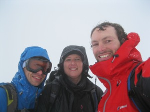 Alison and Jerome at the summit.