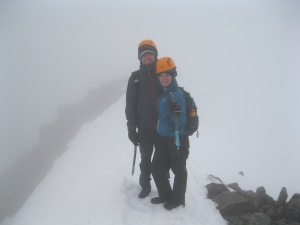 Henry and Veronica on the CMD arête.