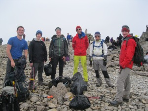 Most of the team at the summit.