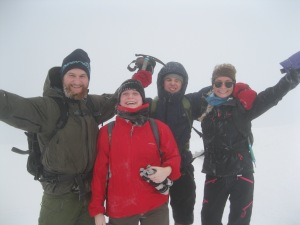 Nicolai, Andrea, Lauritz, Jennifer on the summit